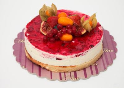 Tort cheesecake fructe de padure